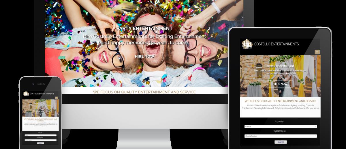 Essex Website Design for Costello